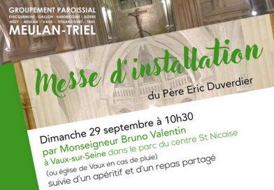 Messe d'installation du Père Eric Duverdier